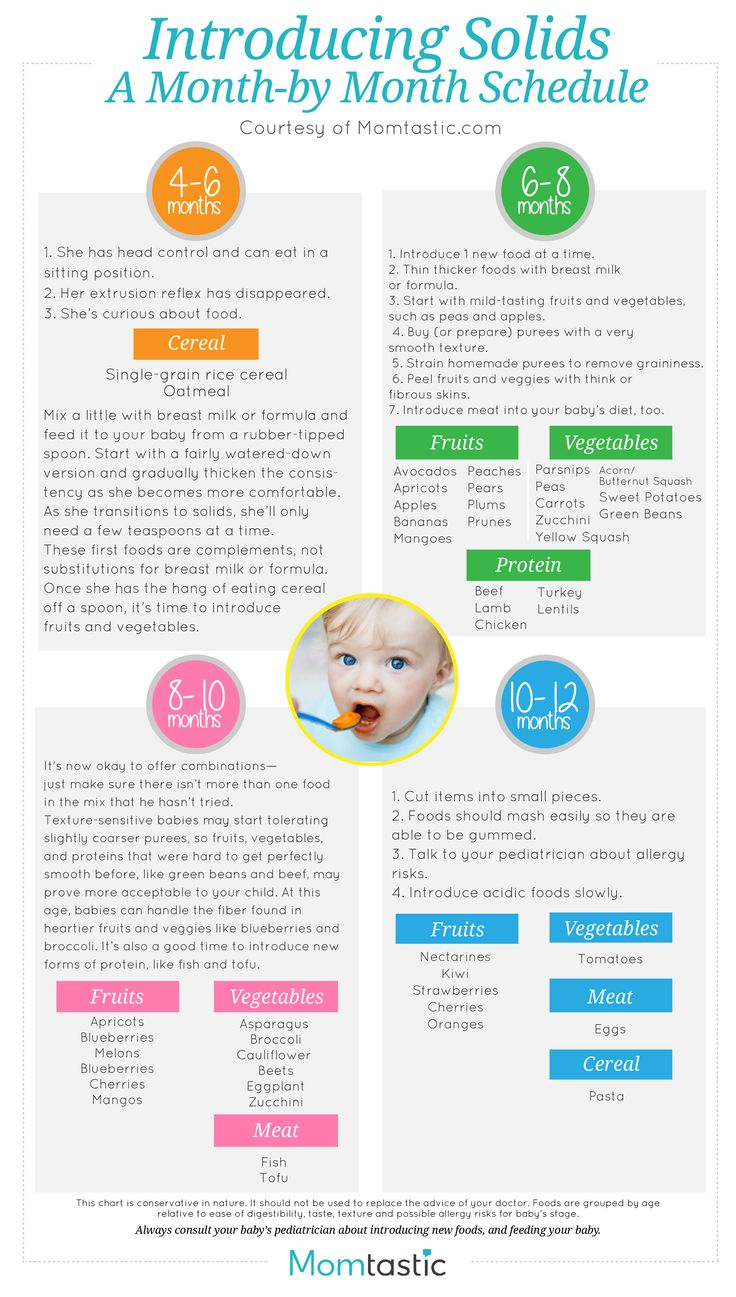 baby solid food guide uk