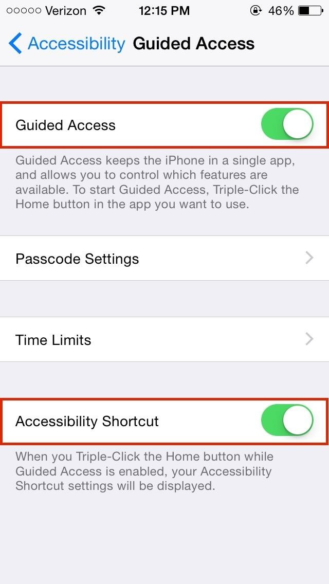 iphone turn off guided access