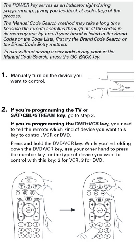 manual guide button on tv