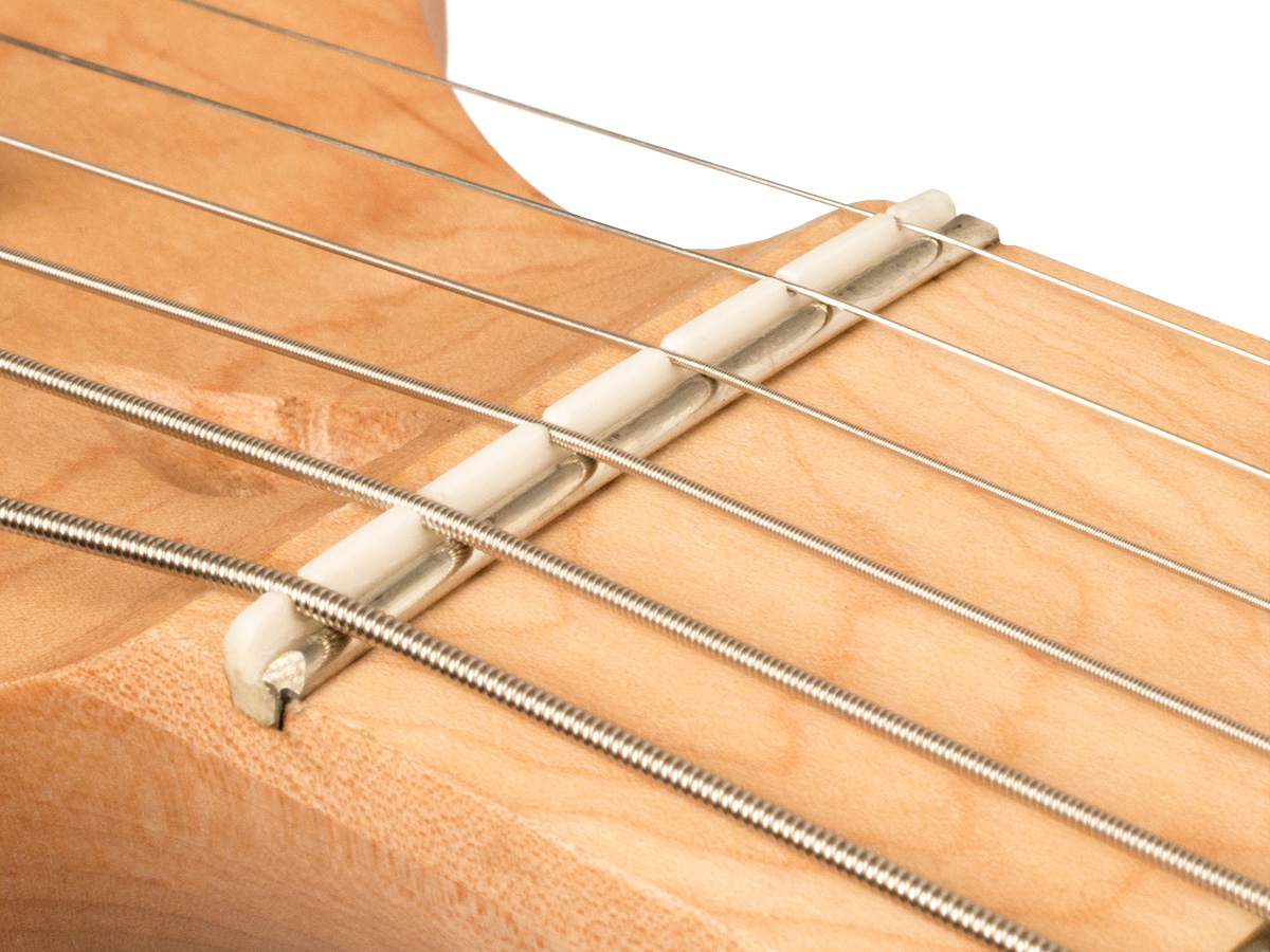 stratocaster string guide flat or