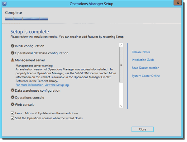 operations manager 2012 r2 installation guide